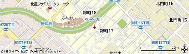 北海道旭川市錦町周辺の地図