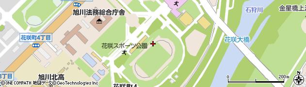 北海道旭川市花咲町周辺の地図