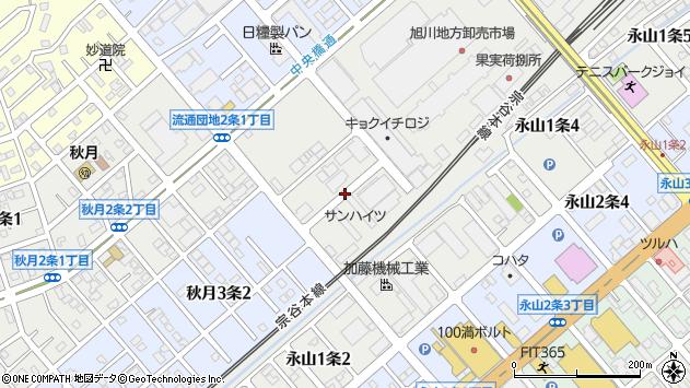 〒079-8441 北海道旭川市流通団地1条の地図