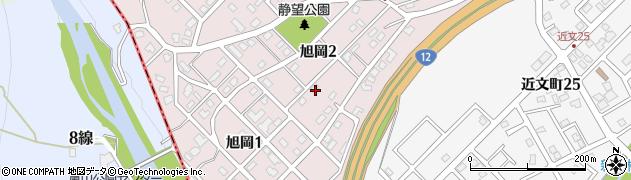 北海道旭川市旭岡周辺の地図
