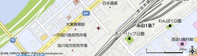 北海道旭川市流通団地1条周辺の地図