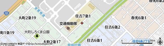 北海道旭川市住吉7条周辺の地図