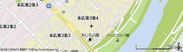 北海道旭川市末広東3条周辺の地図