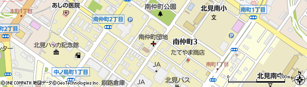 南仲町団地周辺の地図