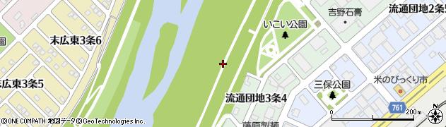 北海道旭川市流通団地3条周辺の地図
