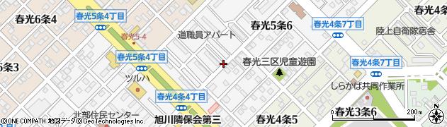 北海道旭川市春光5条周辺の地図