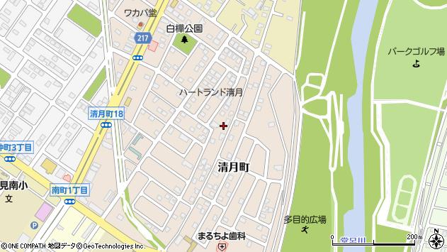 〒090-0805 北海道北見市清月町の地図