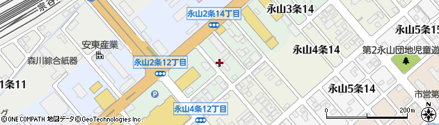 北海道旭川市永山3条周辺の地図