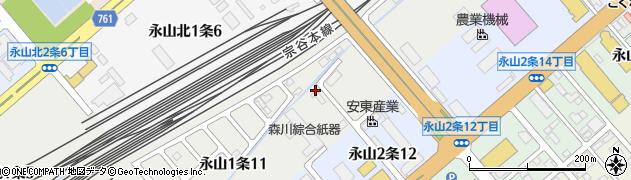 北海道旭川市永山1条周辺の地図