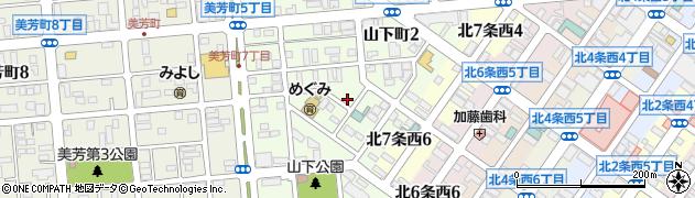 北海道北見市山下町周辺の地図