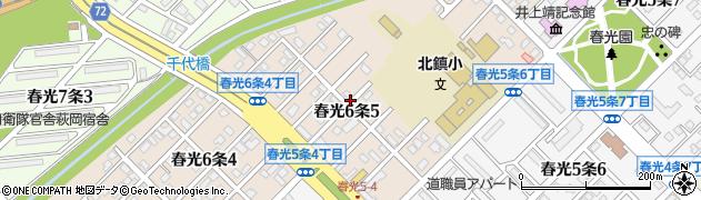 北海道旭川市春光6条周辺の地図