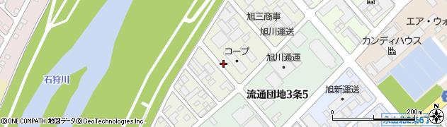 北海道旭川市流通団地4条周辺の地図