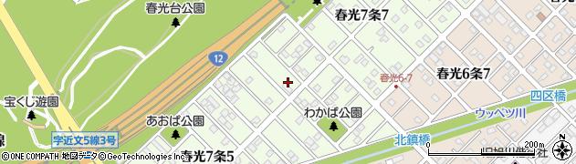 北海道旭川市春光7条周辺の地図