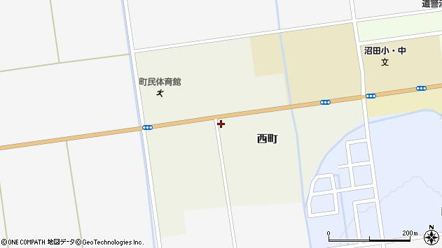 〒078-2204 北海道雨竜郡沼田町西町の地図