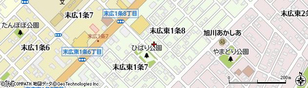 北海道旭川市末広東1条周辺の地図