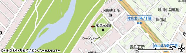 北海道旭川市永山北4条周辺の地図