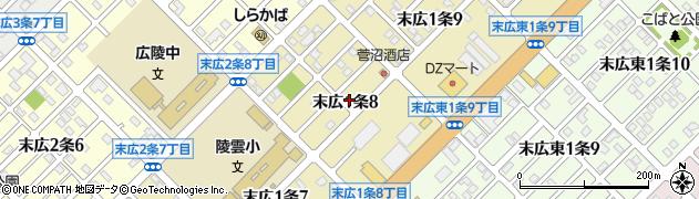 北海道旭川市末広1条周辺の地図
