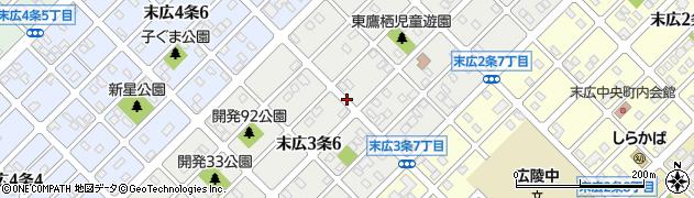 北海道旭川市末広3条周辺の地図