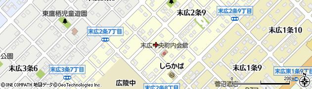 北海道旭川市末広2条周辺の地図