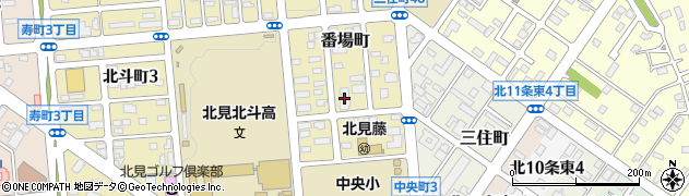 北海道銀行寮周辺の地図