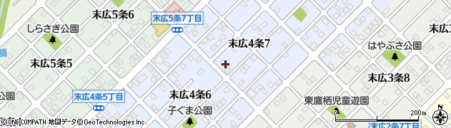 北海道旭川市末広4条周辺の地図