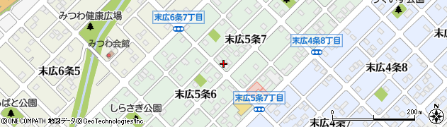 北海道旭川市末広5条周辺の地図