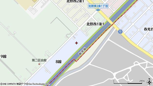 〒071-1248 北海道上川郡鷹栖町8線の地図