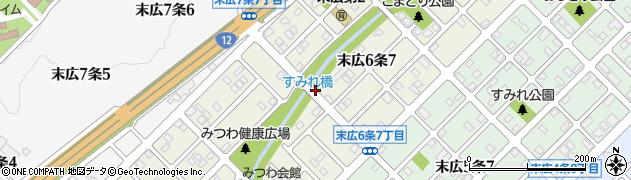 北海道旭川市末広6条周辺の地図