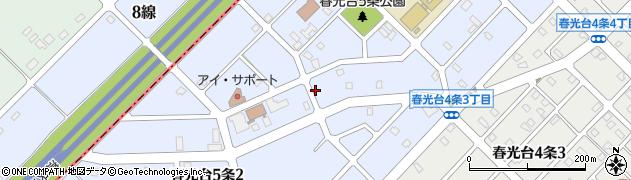 北海道旭川市春光台5条周辺の地図