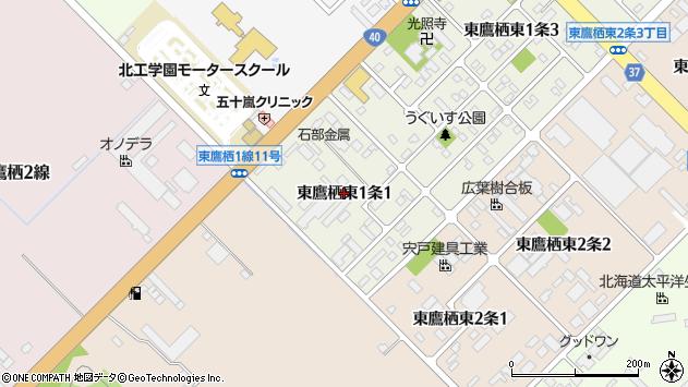 〒071-8111 北海道旭川市東鷹栖東1条の地図