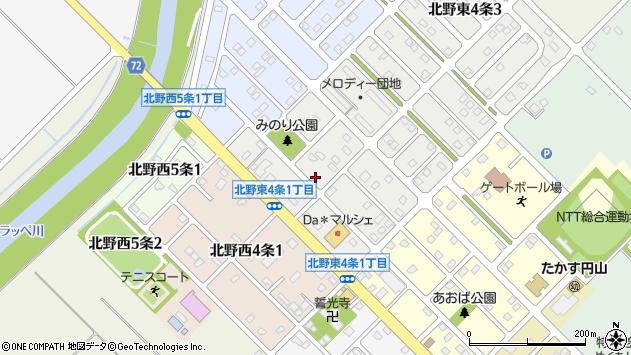 〒071-1224 北海道上川郡鷹栖町北野東四条の地図