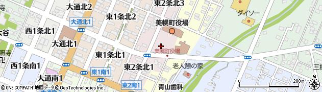 北海道網走郡美幌町周辺の地図