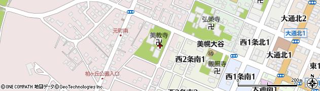美教寺周辺の地図
