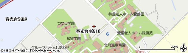 北海道旭川市春光台4条周辺の地図
