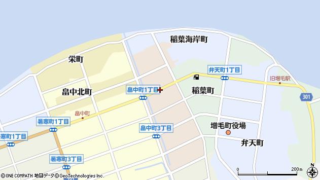 〒077-0201 北海道増毛郡増毛町永寿町の地図