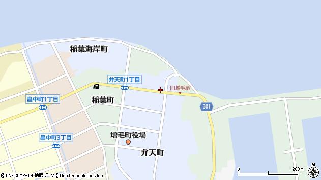 〒077-0205 北海道増毛郡増毛町弁天町の地図
