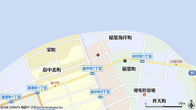 〒077-0202 北海道増毛郡増毛町野塚町の地図