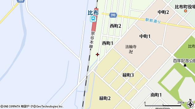 〒078-0342 北海道上川郡比布町西町の地図