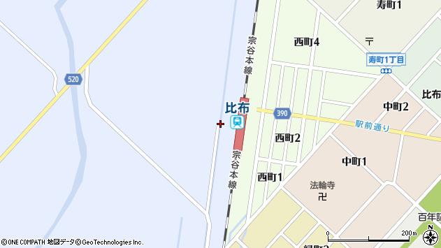 〒078-0341 北海道上川郡比布町市街地の地図