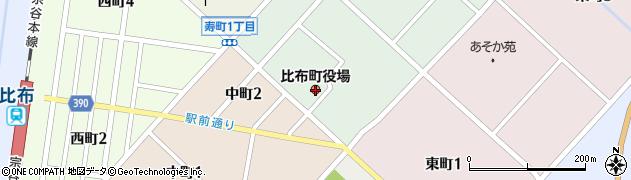 北海道比布町(上川郡)周辺の地図