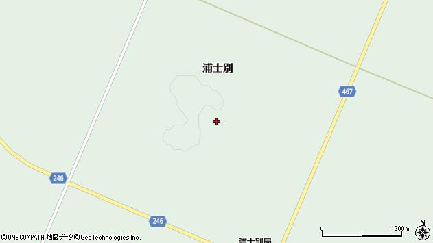 〒099-3502 北海道網走市浦士別の地図