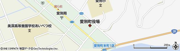 北海道上川郡愛別町周辺の地図
