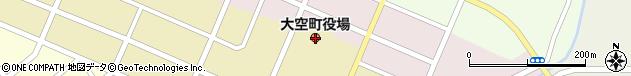 北海道網走郡大空町周辺の地図