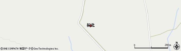 北海道旭川市江丹別町(拓北)周辺の地図