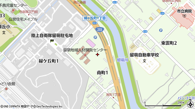〒077-0014 北海道留萌市南町の地図