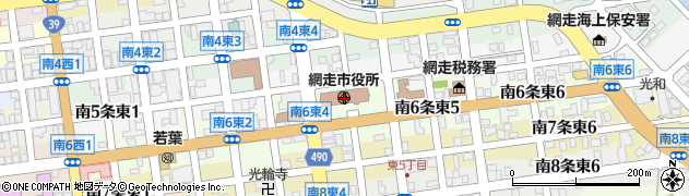 北海道網走市周辺の地図