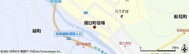 北海道羅臼町(目梨郡)周辺の地図