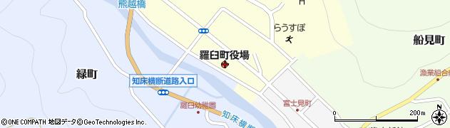 北海道目梨郡羅臼町周辺の地図