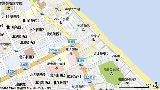 〒093-0056 北海道網走市北六条東の地図