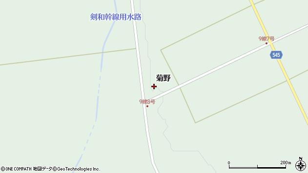 〒098-0113 北海道上川郡和寒町菊野の地図